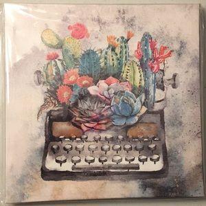 Other - Vintage typewriter flower pot canvas wall art 🖼